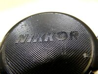 "Nikon Lens Cap ""Nikkor"" 52mm JAPAN  all black            Free Shipping worldwide"