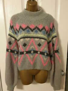 Hollister Womens Ceopped Jumper Size 10