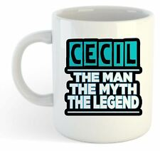 Cecil - The Man, The Myth, The Legend Mug - Name Personalised Funky Gift