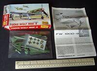 Vintage 1960s Lindberg USA Focke-Wulf Fw190D-9 Luftwaffe Fighter 1:72 Scale
