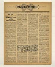 1957 Reynold Ruffins Milton Glaser PUSHPIN MONTHLY GRAPHIC Seymour Chwast Alcorn