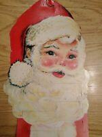 "Vintage 38"" Santa Claus Holiday Card Holder Christmas Cards Die Cut  FREE SHIP!!"