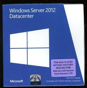 Factory Sealed - P71-06801 Microsoft Windows Server 2012 Datacenter 25 CAL