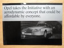 Opel Tech 1 1981 CONCEPT CAR UK Marketing Publicité Brochure