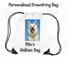 Personalised Drawstring Bag with your own text/photo school, gym, PE kit,