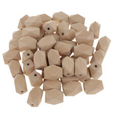 50Piece Unfinished Wooden Spacer Beads for DIY Jewelry Making With 4mm Hole