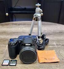 Nikon Coolpix L320 Digital Camera Bundle, 26x Optical 4x Digital Zoom, Open Box