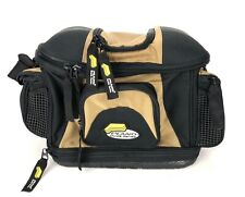 PLANO Guide Series Fishing Lures Tackle Bag Hiking Brown Yellow Black