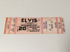 Vintage Elvis Unused Concert Ticket Sept ,20 1977. Huntington WV