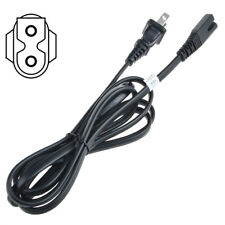 PwrON 6ft AC Power Cord 2 Prong Flat D for Comcast Cable box Directv Dish DVR