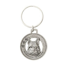 Creative Pewter Designs Norwich Terrier Dog Pewter KeyChain, Key Fob, D128Kc