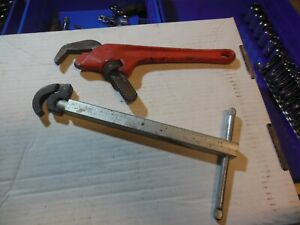 Two ridgid wrenches 1017 basin wrench and E-110 offset wrench