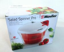 MUELLER Large 5L Salad Spinner Vegetable Washer with Bowl, Anti-Wobble Tech []