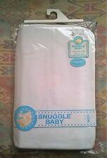 Snuggle Baby Algodón Cuna Hojas X 2 Blanco Jersey Algodón Elástico 40x94cm