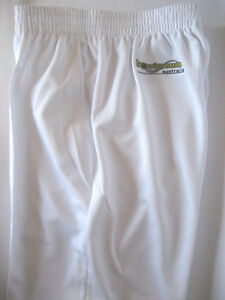 New! Bowlswear Men's White Comfort Fit Trousers Only $47 with Free Postage!