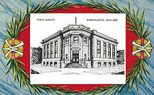 Marshalltown,Iowa,Public Library,Fancy Border,1907