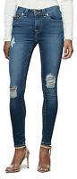 True Religion Women's Jennie Curvy Destroyed Skinny Fit Stretch Jeans w/ Rips