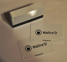 Maitre'D Magnetic Swipe Employee Id Cards (50 Pack) Free Shipping