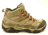 Merrell Moab 2 Mid Sz 8 Hiking Waterproof Brown Athletic Womens Boots