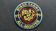 MOD SKA SCOOTER SEW ON / IRON ON PATCH:- WIGAN CASINO (c) HEART OF SOUL BLUE