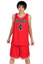 Slam Dunk Cosplay Costume Shohoku High Akagi Takenori Red 4 Jersey Set V1