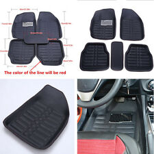 5 Pcs Waterproof Leather Car Truck Floor Mats Floorliner Front&Rear Carpet Pad
