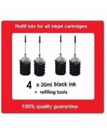 4 x Refill kits for Canon PGI-680,PGI-680XL,PGI680XXL black ink cartridges