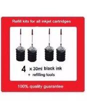 4x Refill kits for Canon PGI-680,PGI-680XL,PGI680XXL black ink cartridges