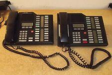2 x NORTEL NORSTAR MERIDIAN M7324 BLACK PHONE NT8B42