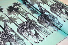 Jersey cebra jirafa cenefas verano Safari BW vestido vestidos de señora Mint