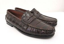 Tod's Crocodile Penny Loafer Brown Slip On Loafers Croc shoes Size: IT 36 - US 6