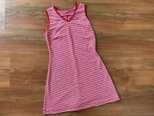 GIRLS Pink Red NIKE DRI FIT SPORTS / TENNIS DRESS (age10-12) *GREAT COND*