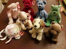 Ty Beanie Babies Set of 7 plus 1 x Ty Attic Treasures Bear
