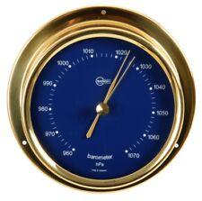 Classic Analogue Barometer BARIGO Regatta Brass/Scale Blue