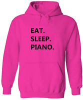 Play Piano Unisex Pullover Hoodie Sweater Mens Women Sweatshirt Gift Pianist