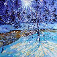 Original Signed Oil, WINTER LIGHT, Ukrainian Artist, Ivchenko, Date 2006