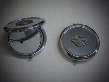 """Harley Davidson Bar & Shield Pin Compact Travel Mirror """"Great Gift"""""""