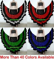 Satin Tribal Fusion Flair Gypsy 25 Yard Skirts Belly Dance ATS Flamenco Gothic