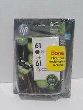 Hp 61 ink cartridge combo new