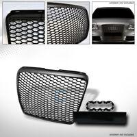 Fits 08-11 Audi A6/S6 C6 Matte Black RS-Honeycomb Mesh Front Bumper Grill Grille