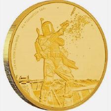 Star Wars Classic: Boba Fett 1/4 oz Gold Coin  2017 Niue!!!