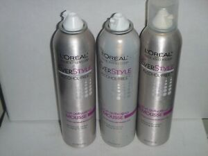 (3 pack)  L'Oreal EverStyle Curl Activating Mousse, Free, 8 Oz each