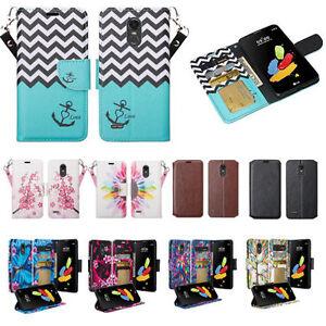LG Stylo 3 Case, LG Stylo 3 Plus, Magnetic Flip [Kickstand & Slots] Wallet Case