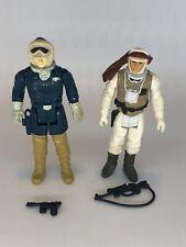 1980 Vintage Star Wars Luke Skywalker & Han Solo Hoth Action Figures Complete