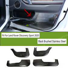 Black Brushed Steel Car Door Kick Panel Trim For Land Rover Discovery Sport 2020