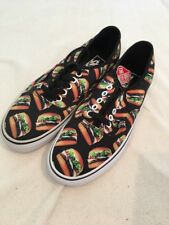 6a7f8e9c19c3 VANS Authentic Late Night Black Hamburgers Shoes Men s 9 (Women s 10.5) New