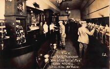 RPPC Slot Machines Inside The Cafe Mint Restaurant in Juarez, Mexico~114913