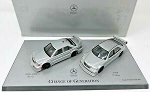Minichamps Mercedes DTM Change of Generation Dealer Edition 1/43 VERY RARE <ea1>