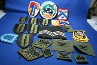 Korean - Vietnam War Army, Navy, USMC Patches Large Group Lot Of 34