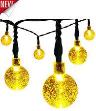 LED Solar String Lights 20ft 30 Warm White Outdoor Waterproof Garden Patio Decor